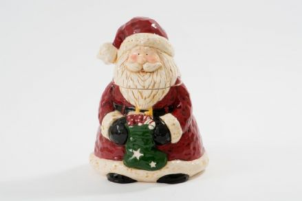 Luxury Father Christmas Ceramic Santa Cookie Treats Jar